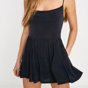 Urban Outfitters Black Poppy Romper